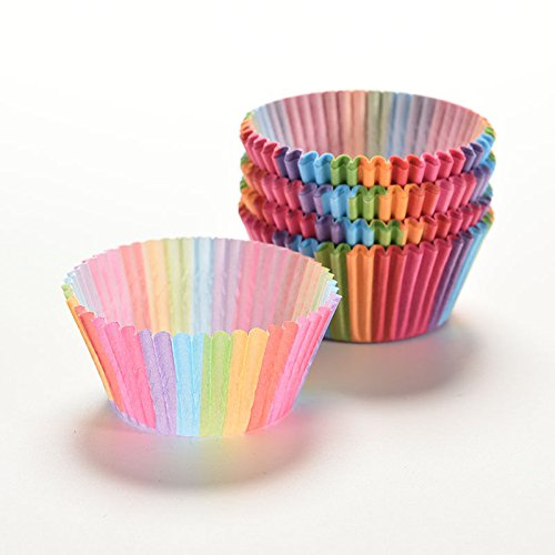Rainbow color 100 pcs cupcake liner baking cup cupcake paper muffin cases Cake box Cup tray cake mold decorating tools(Mixed Color) - Yankee Candle Halloween Costume