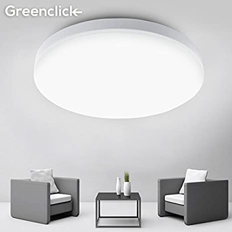 8W 5000K Daylight LED Flush Mount Ceiling Light , Greenclick Modern  Flushmount 80W Equivalent 9.5