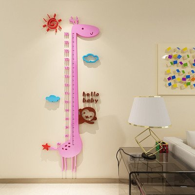 ZLJTYN Kids Height Growth Chart Giraffe Acrylic 3D Stereo Height Height Ruler Children'S Room Wall Baby Nursery Wall Stickers 150Cm,C 150Cm PVC by ZLJTYN