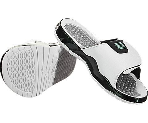 03ade1fbca3d NIKE Men s Air Jordan Hydro Xi Retro Slide White Emerald Rise (9 D(