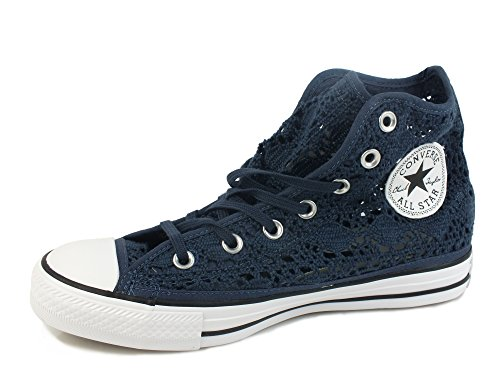 TESSUTO Star 35 552733C pizzo WHITE NAVY All CONVERSE Taylor Hi sneakers Chuck qU0nw1