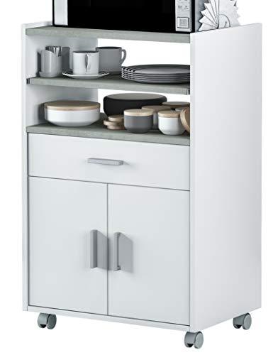 Miroytengo Mueble microondas Pluton bufe Cocina aparador Estilo Moderno 59x40x92 cm