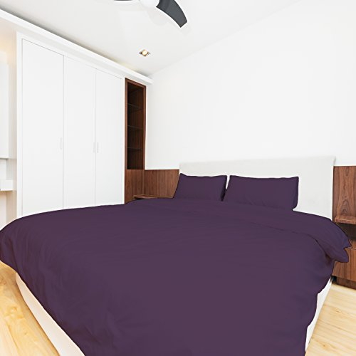 Egyptian Cotton Feel - 1800 THREAD COUNT BLEND 4 PIECE BED SHEET SET (Queen, Purple)