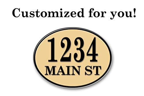 West Coast Curb-N-Sign Oval Reflective Address Plaque (White) by West Coast Curb-N-Sign (Image #5)