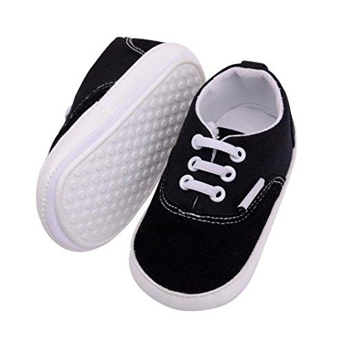 Tefamore Zapatos del niño del bebé de los zapatos ocasionales de los deportes Negro