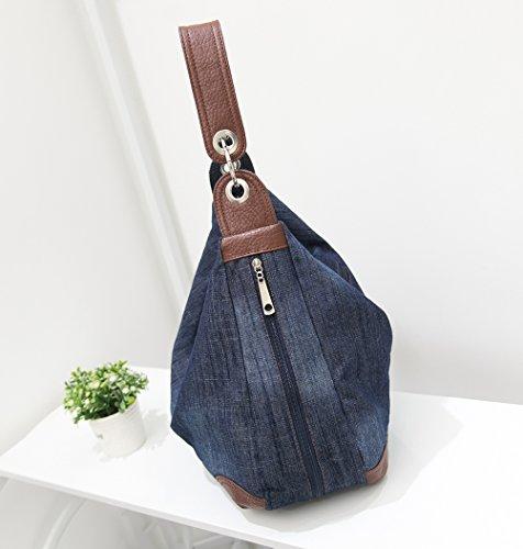 e5081c16695b Dreams Mall(TM) Women s Handbag Purse Hobo Tote Top Handle Shoulder  Crossbody Bags Denim