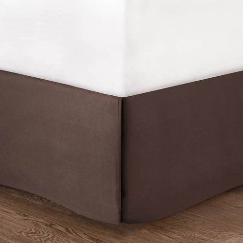 Mainstay Solid Bedskirt, Brown, Full/Queen 675716590093