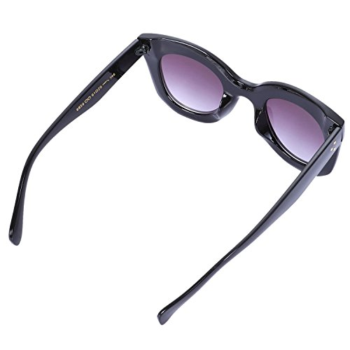 Sun Glasses Vintage Gradiente Para Cat Nueva Eye Negro Mujeres Cat Negro SODIAL Tonos UV400 Sunglasses Eye Moda Mujeres YvqYP