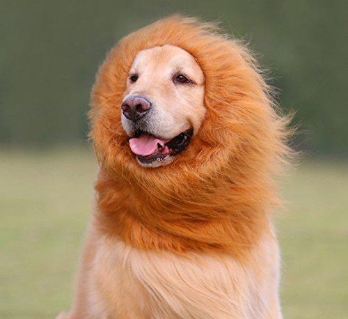 Dog Lion Mane Yosmi Dog Costume with Gift Lion Wig for Dog Halloween Pet Costume