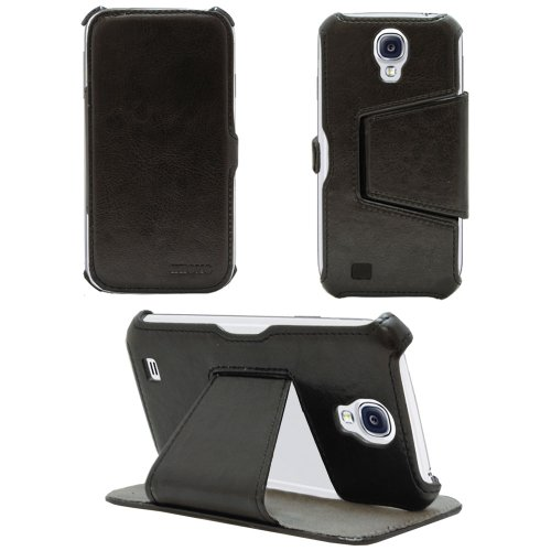 KHOMO Hot Press Black Leather case for Samsung Galaxy S4 from KHOMO