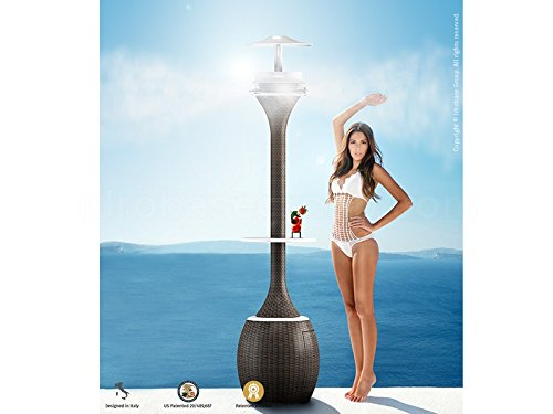 AURORA Floor standing misting system with LED lights (Wood) by Idrobase (Image #4)