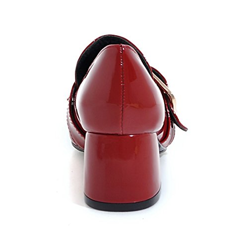 Talon a Vernis Pour cm L'Ete DE Bloc Femmes UH Rouge 5 Chaussures Escarpins Conforts Moyen UqvxIntfw