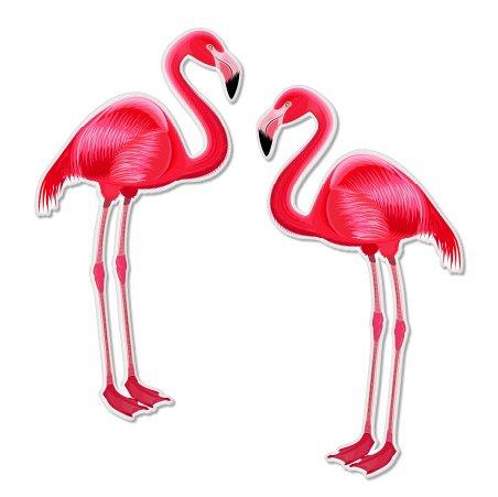 Flamingos Pink Beautiful Set of 2 Vinyl Sticker - Car Window Bumper Laptop - SELECT SIZE ()