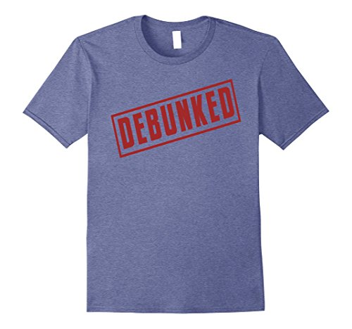 Mens Ghost Hunter Debunked Red Stamp T-shirt | Halloween Costume 3XL Heather (Paranormal Investigator Costume)
