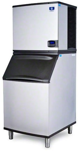 B570 Bin (Manitowoc IY-1094N_B-570 1020 Lb Remote Cooled Half Cube Ice Machine w/ Storage Bin)