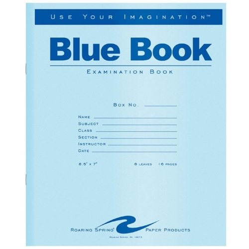 Exam Book, Wide Rule, 8-1/2 X 7 (Set of 31) [Set of 50] Unit of Measure: 50-Pack