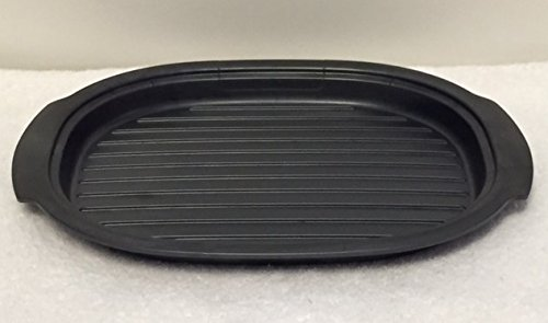 Tupperware Ultra Pro Oval Oven & Microwave Safe Plate New Cosmos Black