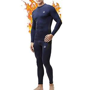 MEETWEE Homme Ensemble de sous-Vêtement, Sport Base Layer Maillot Manches Longues + Pantalon Quick Dry Sou Vetement pour…