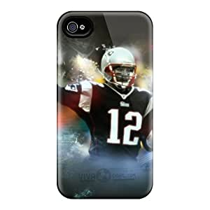 Bumper Cell-phone Hard Cover For Iphone 4/4s With Unique Design Fashion New England Patriots Pictures JonBradica
