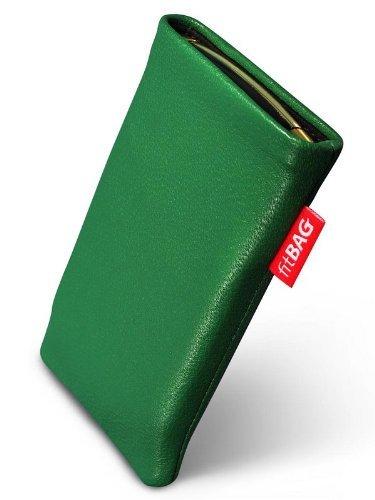 fitBAG Beat Smaragd Handytasche Tasche aus Echtleder Nappa mit Microfaserinnenfutter für Apple iPhone 3G
