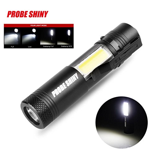 Creazy Super Bright XM-L Q5+COB LED 4 Mode 3500Lm 14500 Flashlight Torch
