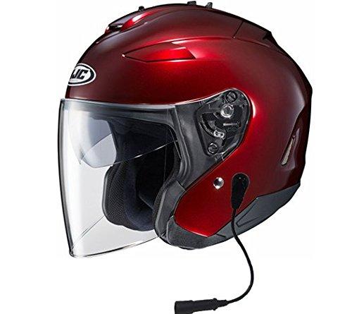 HJC IS-33 II Helmet With Headset GW 5 Pin Wine Xlarge ()