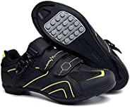 Non-Slip Cycling Shoes,Men and Women Without Lock Road Bike Bicycle Hard-Soled Sneakers,Suitable for Outdoor R