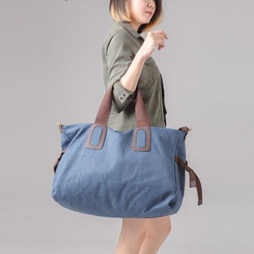 Two Hand Large Version Dark Female Gunaindmx Blue Canvas Satchel Of Bag Male Shoulder Cotton Bz8B0v