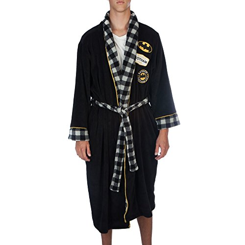 DC Comics Batman Adult Plush Robe Embroidered Licensed Costume (Large)