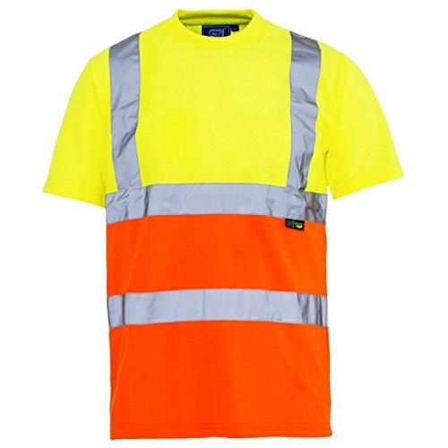 Maniche orange En471 Yellow Neck Shirt Vis Crew T A Hi Lavoro Corte 4ztxqaxP
