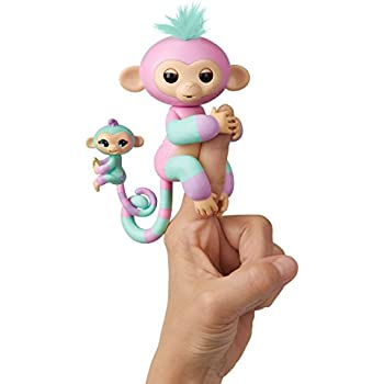 Amazon Com Wowwee Fingerlings Baby Monkey Amp Mini Bffs