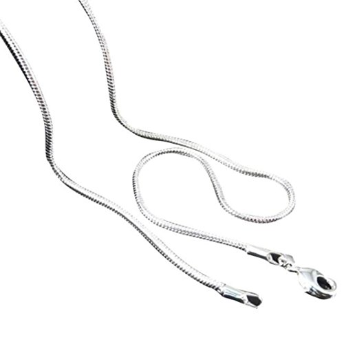Sinfu® Necklace For 1PC Hot Mens Womens Sell Silver Jewelry Snake Chain Necklace Pendant Jewelry Accessories Collectors Gift 16inch-24inch (24inch, Silver)