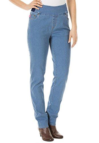 Women's Plus Size Petite Straight Leg Smooth Waist Jean L...