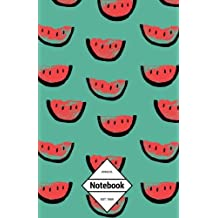GM&Co: Notebook Journal Dot-Grid, Lined, Graph, 120 pages 5.5'x8.5': Tropical Summer Paradise Beach Watermelon