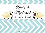 Aqeeqah Mubarak Guest Book: Aqiqah Baby Shower