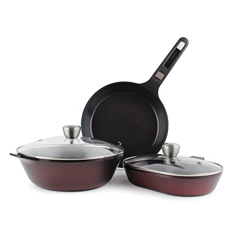 MyPan 6-Piece Ceramic Non-Stick Cookware Set with Detachable