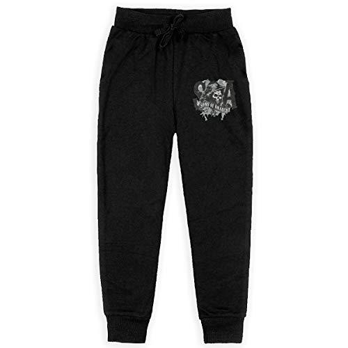 Mayhem Boy Pure Cotton Back Pocket Jogger Pants Stretch Active Basic Sweatpants L Black ()