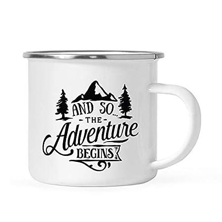 10oz Enamel Mug, Stainless Steel Camping Coffee Mug Gift, and So ...