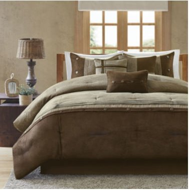 Madison Park Westbrook Colorblock 7-pc. Comforter Set - King size - Brown color - Comforter 104x92