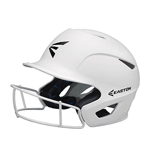 (EASTON PROWESS Fastpitch Softball Batting Helmet with Mask | M / L | Matte White | 2019 | Multi-Density Impact Absorption Foam | High Impact Resistant Lightweight Shell | BioDRI Liner | Chin Strap)