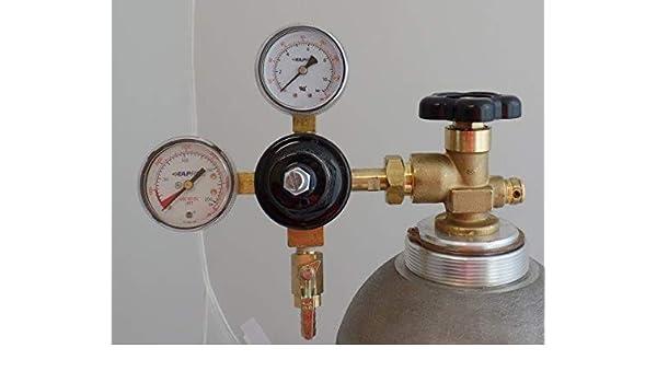 Co2 Primary Beer Regulator New Draft Wine Soda Dual High Pressure Gauge