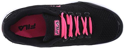 Fila del sentido de marcha del zapato Black/Knockout Pink/Metallic Silver