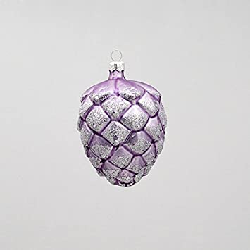 Amazoncom Frosted Purple Pinecone Glass Ornament Home Kitchen
