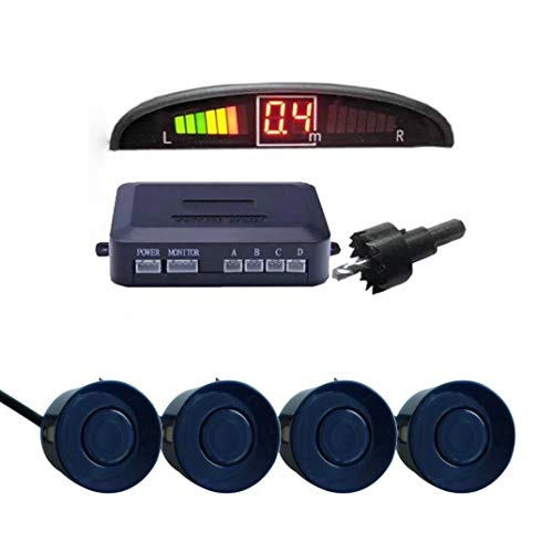 Sonmer Car Reversing Parking Radar Sensor, With 4 Sensors Audio Buzzer Sound Alarm (Blue) by Sonmer (Image #1)