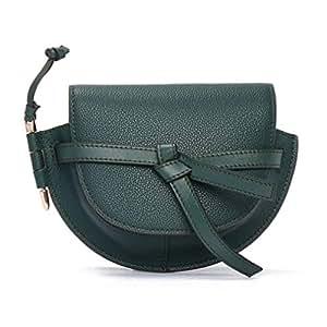 Women's New Saddle Bag Shoulder Messenger Bag Fashion Wild Creativity Ladies Small Round Bag(FM),G