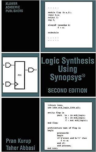 Logic Synthesis Using Synopsys®: Pran Kurup, Taher Abbasi