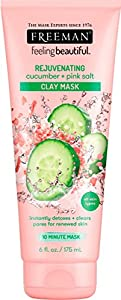 Freeman Facial Cucumber and Pink Salt Clay Mask, 6 oz.