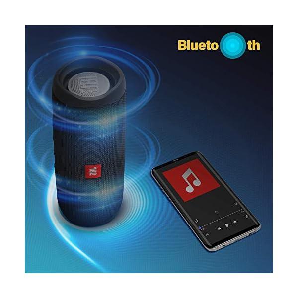 JBL Flip 5 Enceinte Bluetooth Portable avec Batterie Rechargeable, Étanche, Compatible Siri et Google, Noir 5