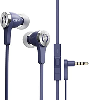 696ac956159 Amazon.com: MuveAcoustics Drive Wired in-Ear Earbud Headphones - Noise  Cancelling Premium Stereo Headphone Earbuds w/Mic, Ergonomic fit for Men &  Women, ...