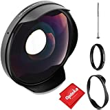 Opteka Titanium Series 0.3X HD Ultra Wide Fisheye Lens for Canon, Sony Camcorders with 58mm Threads